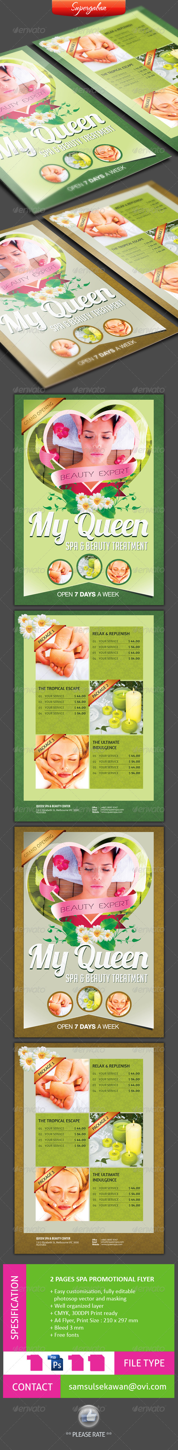 2 PAGES SPA PROMOTIONAL FLYER - Commerce Flyers
