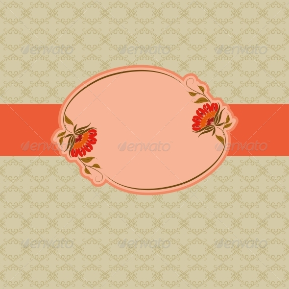Template Frame Design for Greeting Card  - Miscellaneous Seasons/Holidays