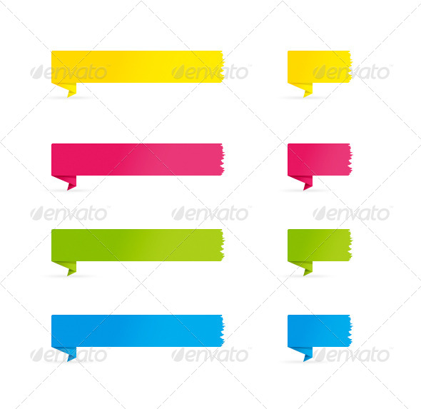 folded color banners by helvtone graphicriver