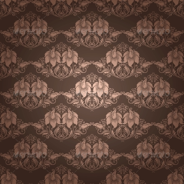 Damask Seamless Floral Pattern - Patterns Decorative