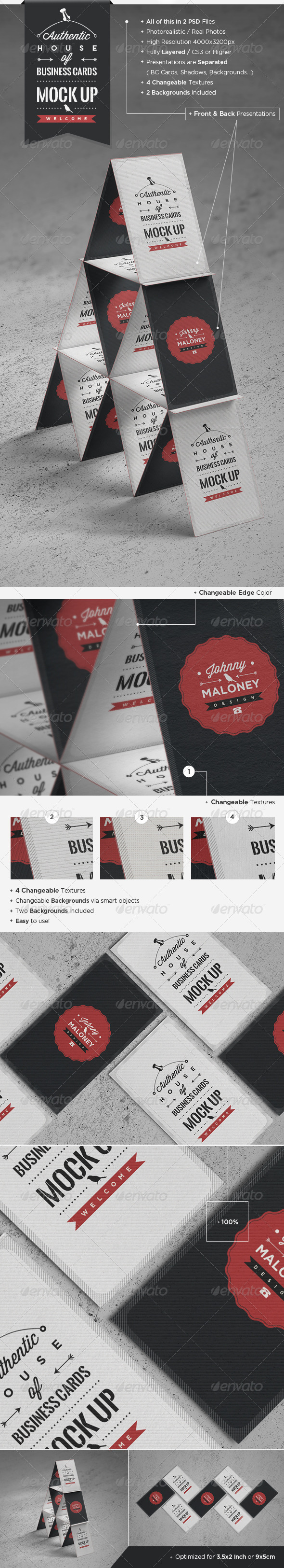 House of Business Cards | Mock-Up - Business Cards Print