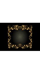 Luxury,Gold, Frame, Ribbon,