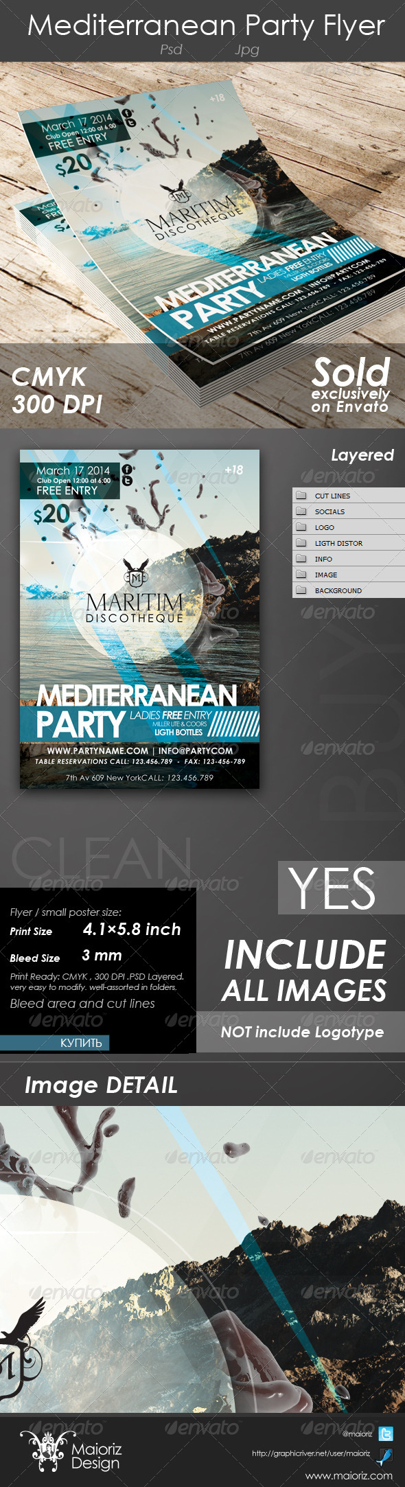Mediterranean Party Flyer - Clubs & Parties Events