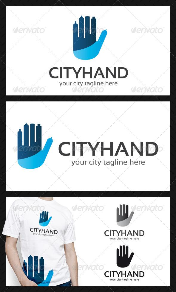 City Hand Logo Template - Buildings Logo Templates