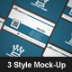 Business Card Mock-Up Pack - 3 Styles - GraphicRiver Item for Sale