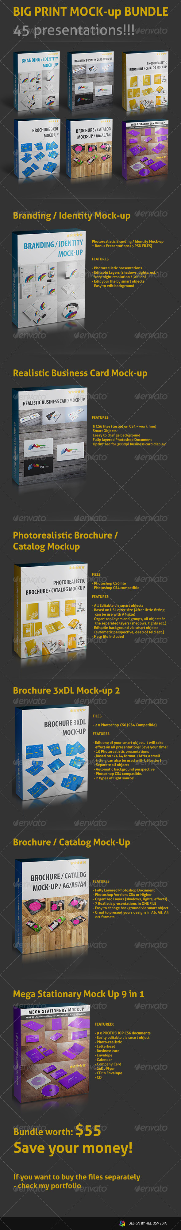 Big Print Mock-up Bundle - Print Product Mock-Ups