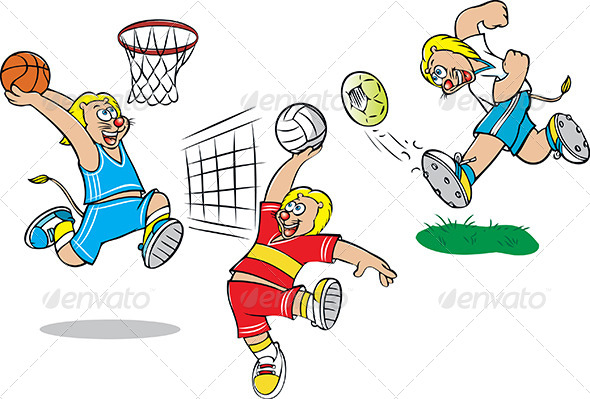 Lion Playing - Sports/Activity Conceptual