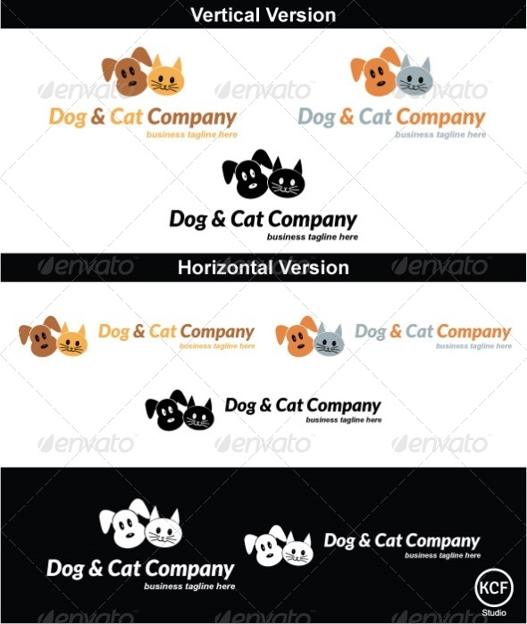 Cats and Dogs Logo Design - Animals Logo Templates