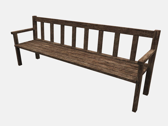 wooden bench 3docean item for sale