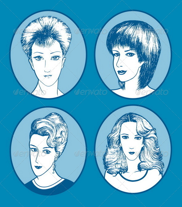 Hair Style Hand Drawn - People Characters