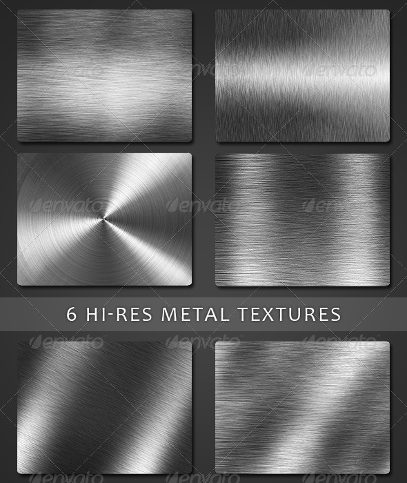 6 Hight Resolution Metal Textured - Metal Textures