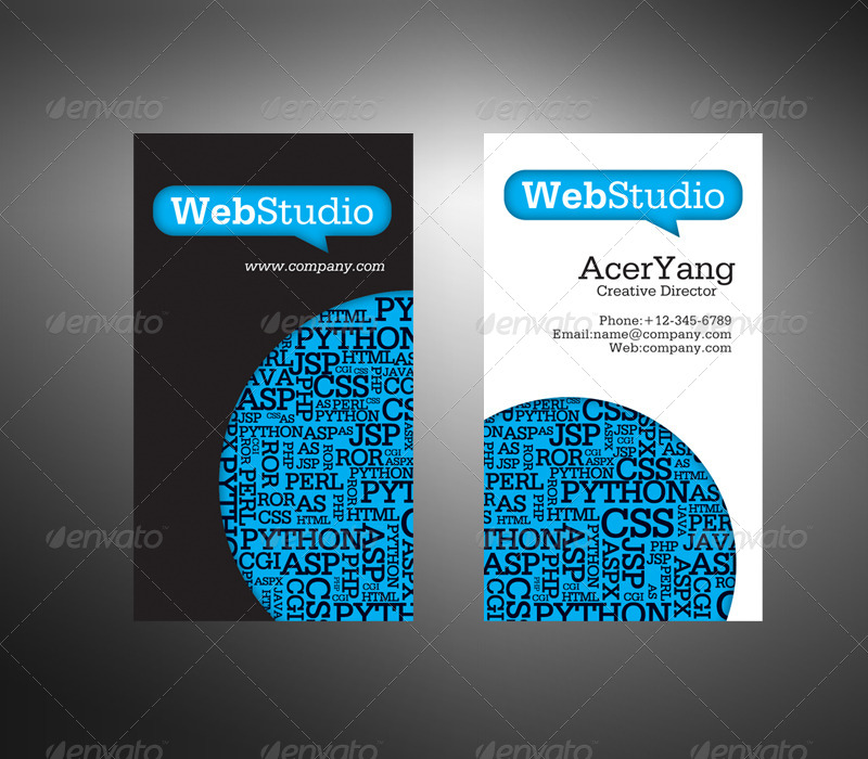 Web Studio Business Card by acerchina | GraphicRiver
