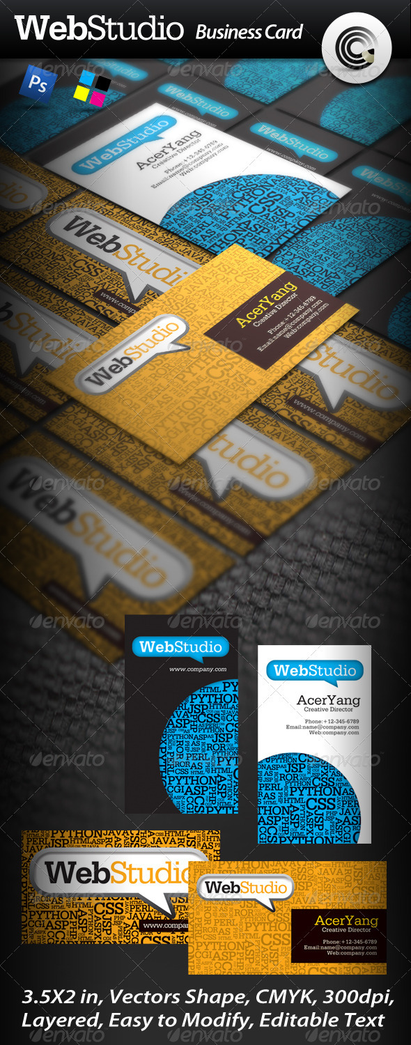 Web Studio Business Card - Creative Business Cards