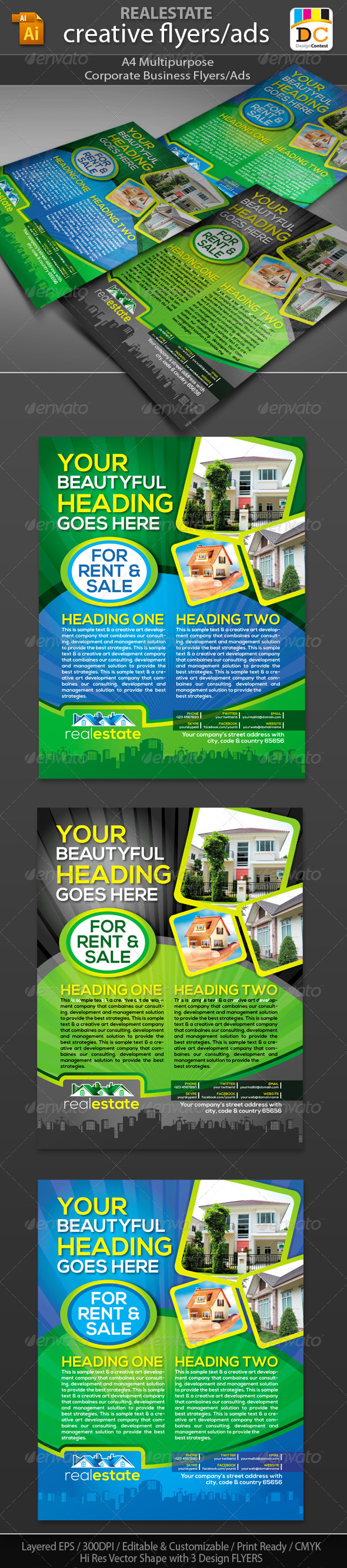 Real Estate Corporate Business Flyers/Adds