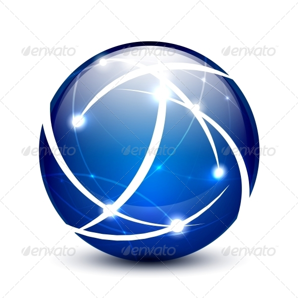 Vector Communication Globe Icon Concept - Web Elements Vectors