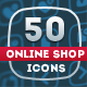 50 Online Shop Icons - GraphicRiver Item for Sale