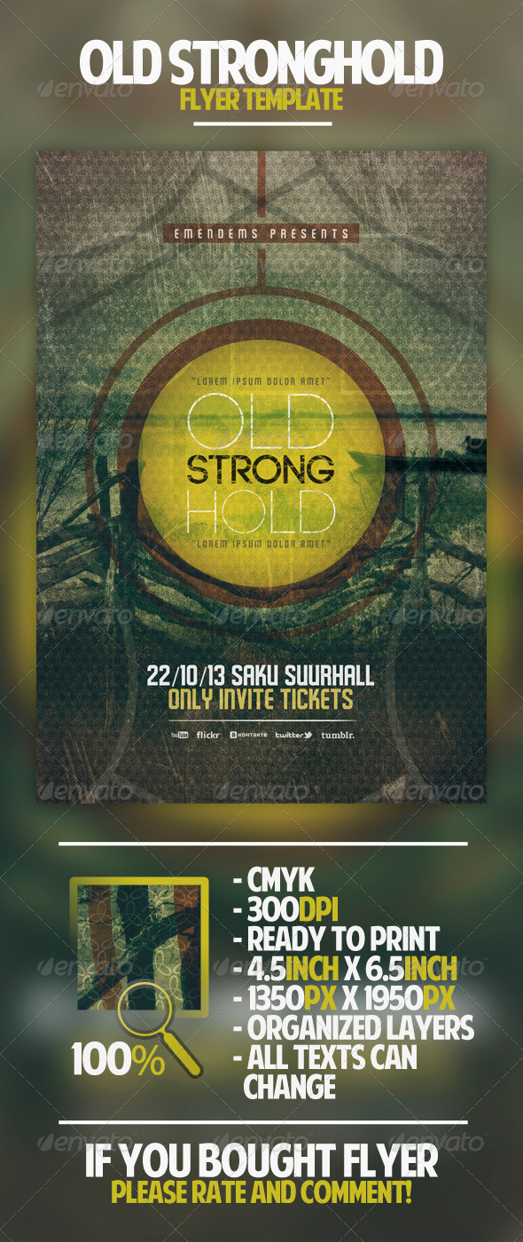 Old Stronghold Flyer Template - Miscellaneous Events