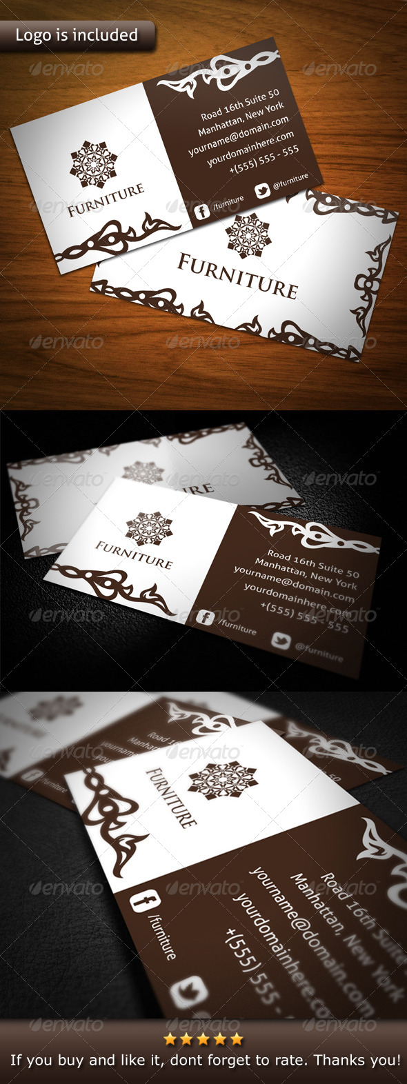 Furniture brand business card by bosstwinsart graphicriver furniture brand business card retrovintage business cards colourmoves