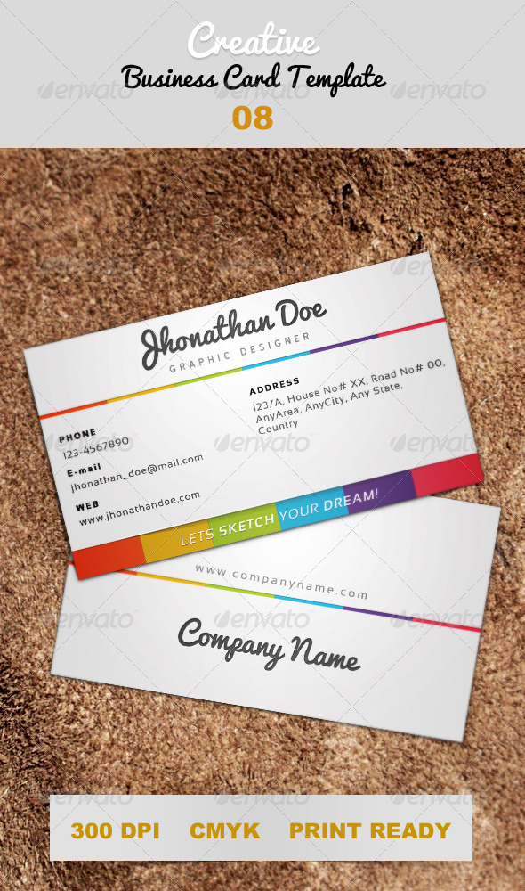 Creative White Business Card Template 08 - Creative Business Cards