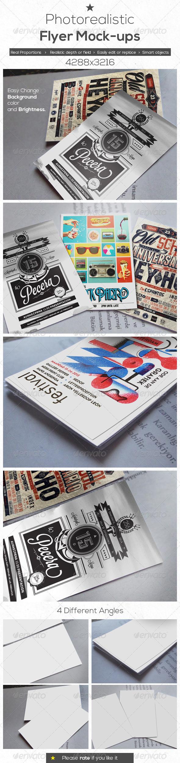 Photo Realistic Flyer Mock-Ups - Flyers Print