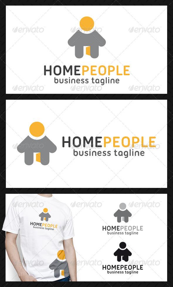 Home People Logo Template - Buildings Logo Templates