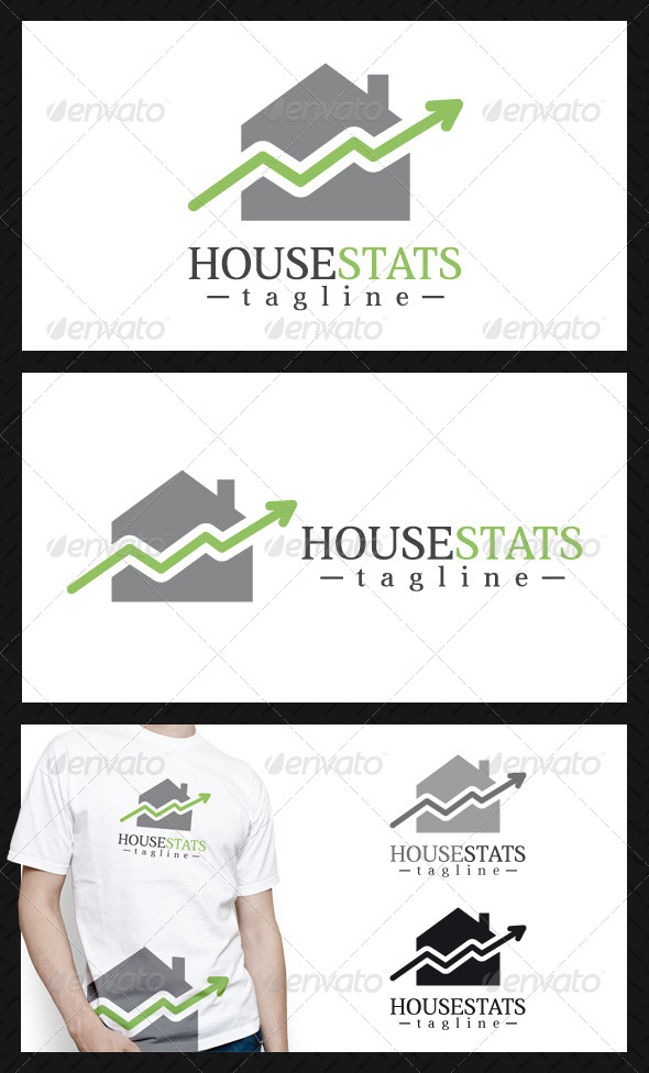 House Stats Logo Template - Buildings Logo Templates