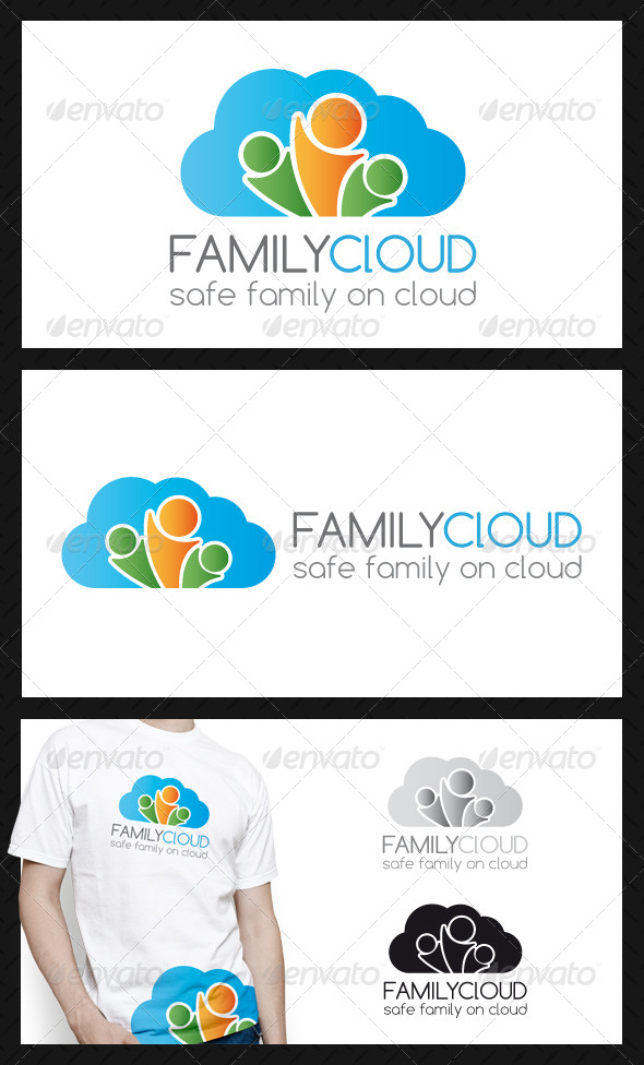 Family Cloud Logo Template - Humans Logo Templates