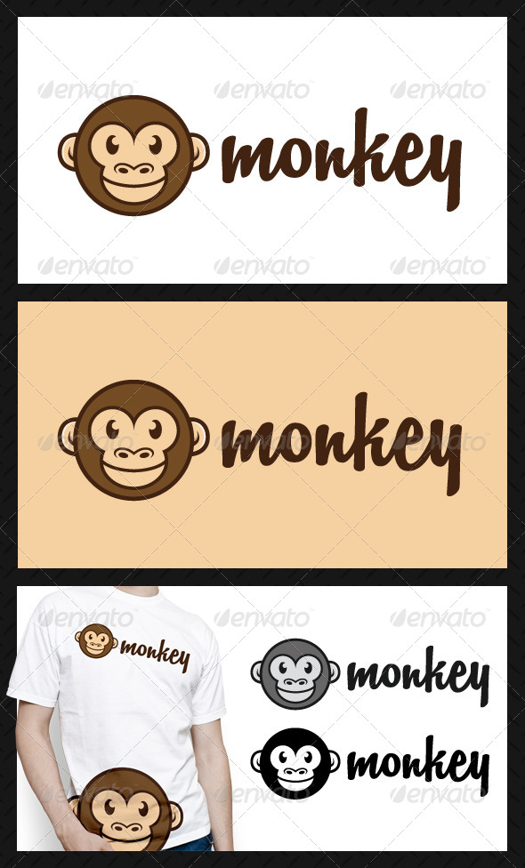 Monkey Logo Template - Animals Logo Templates