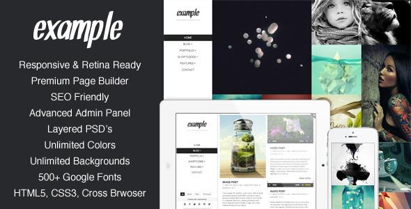 Example – Responsive & Retina Portfolio WP Theme