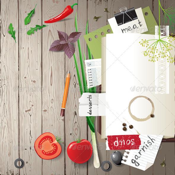 Cookbook - Backgrounds Decorative