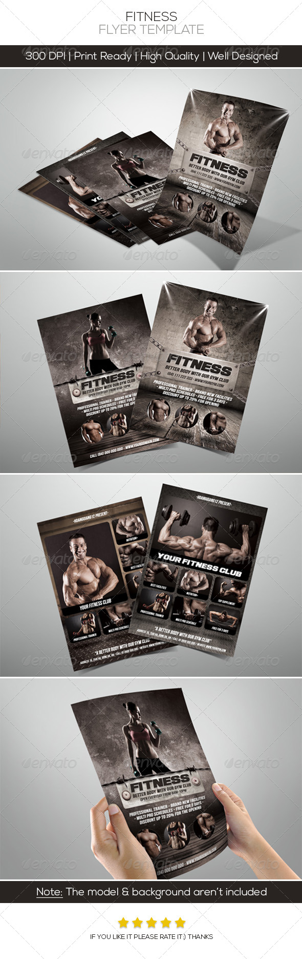 Premium Fitness Flyers - Commerce Flyers