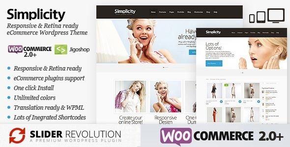 Simplicity – eCommerce WordPress Theme, Responsive