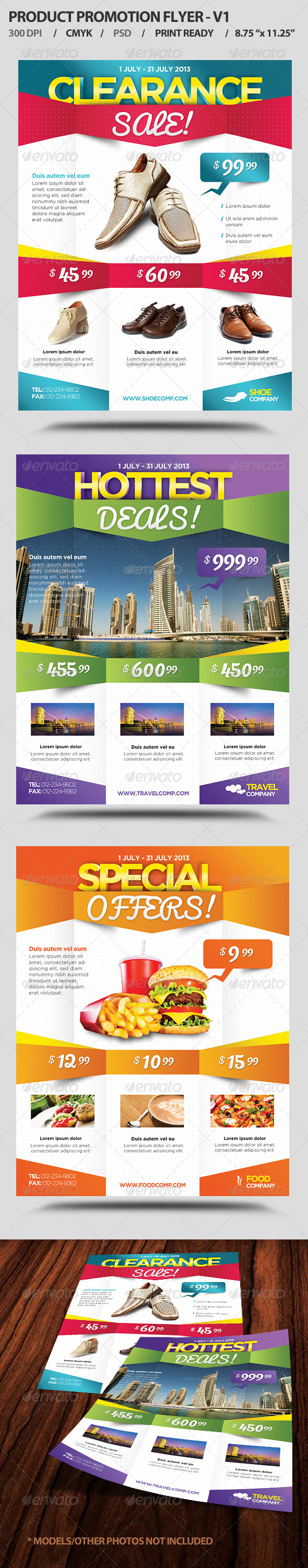 Product Promotion Flyer V1 - Flyers Print Templates