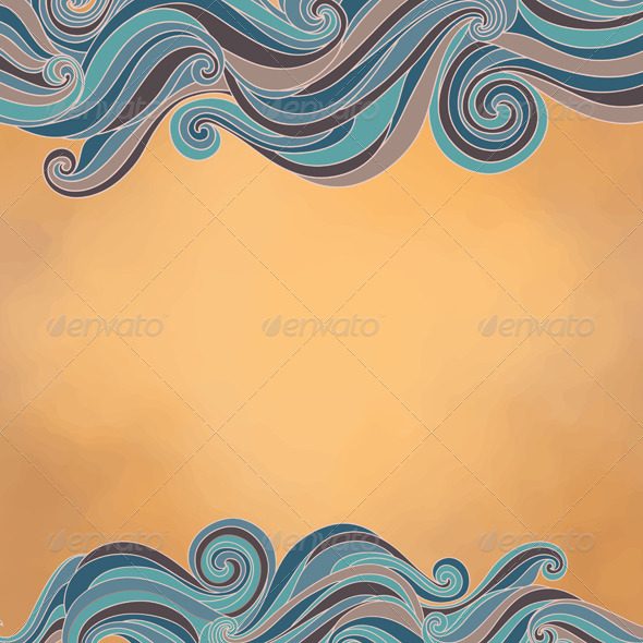 Abstract Background with Waves, Paper Texture - Backgrounds Decorative