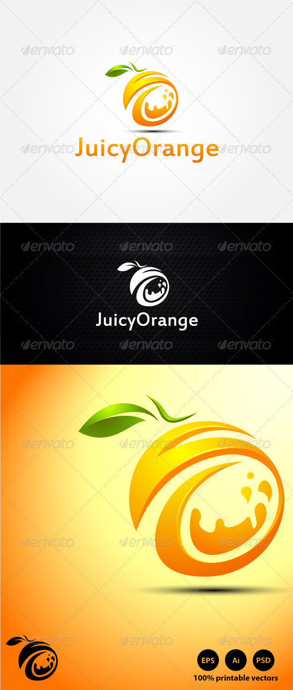 Juicy Orange Logo - Symbols Logo Templates