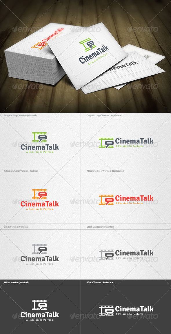 Cinema Talk Logo - Objects Logo Templates