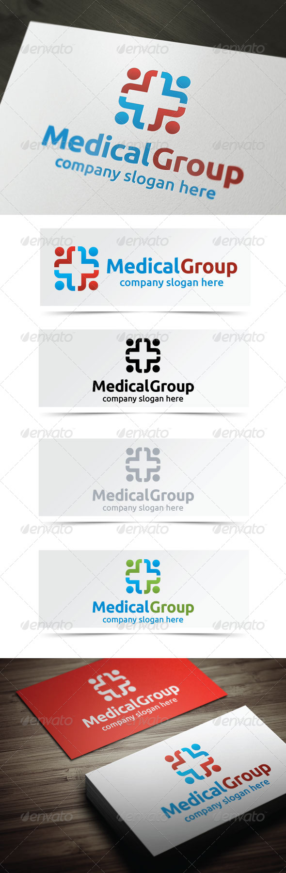 Medical Group - Humans Logo Templates