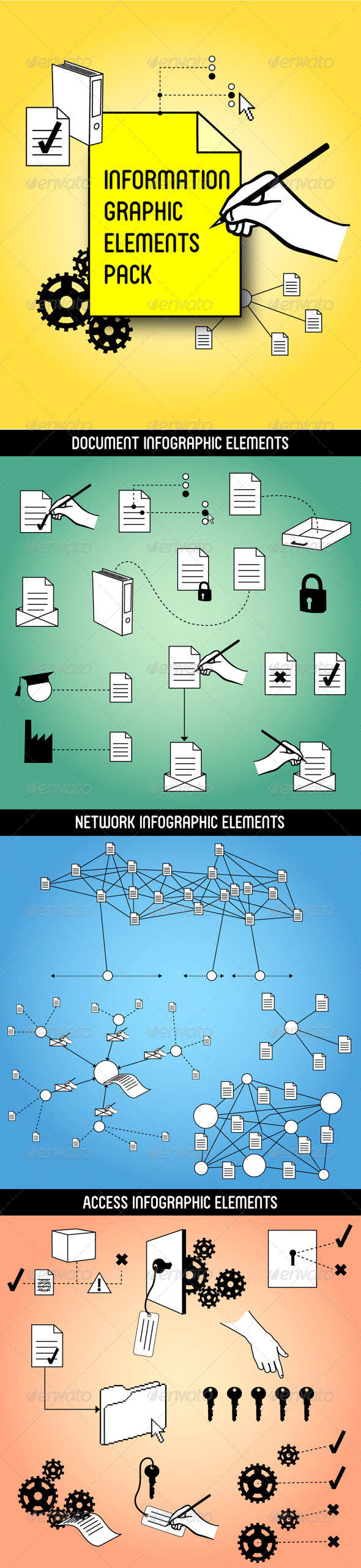 Information Graphic Elements Pack - Concepts Business