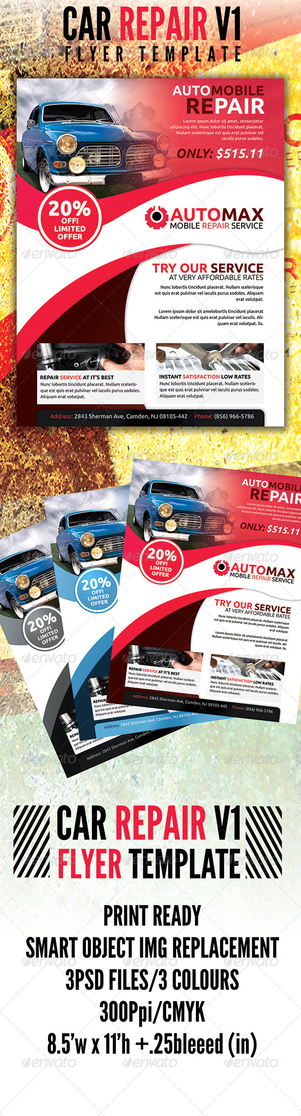 Automobile Flyer v1 - Flyers Print Templates