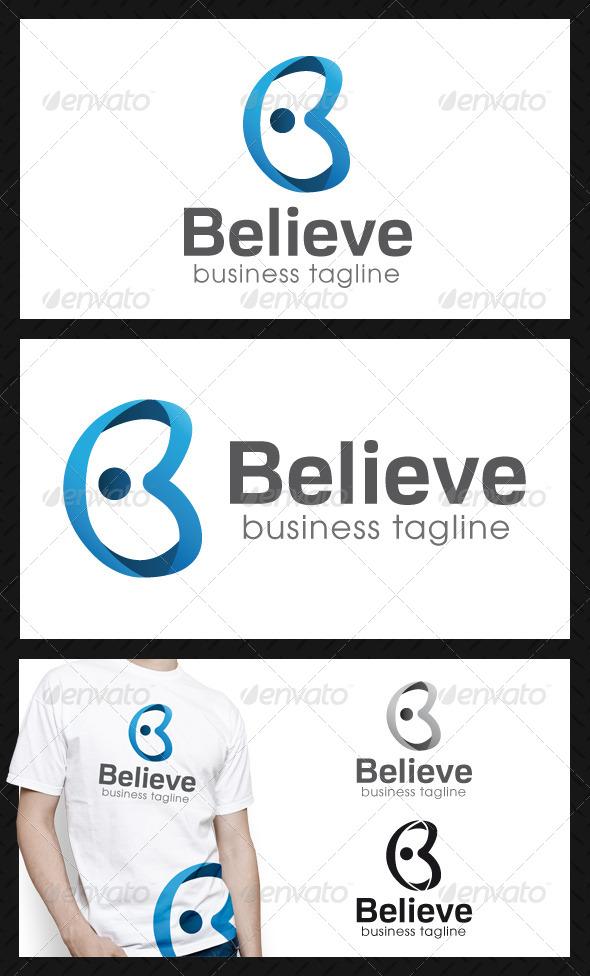Believe Letter B Logo Template - Letters Logo Templates