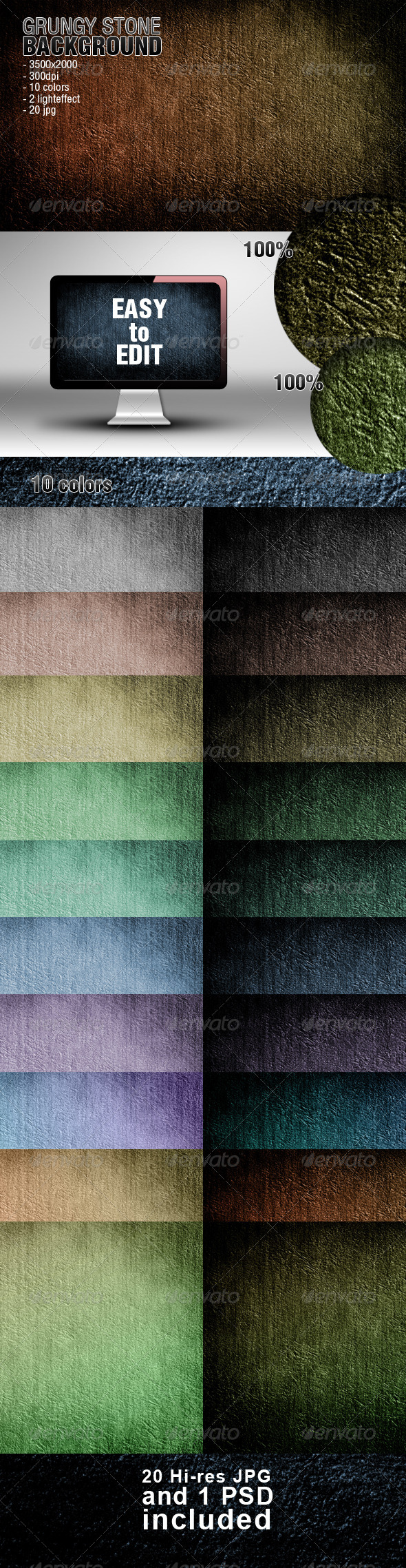 Grungy Stone Background - Abstract Backgrounds