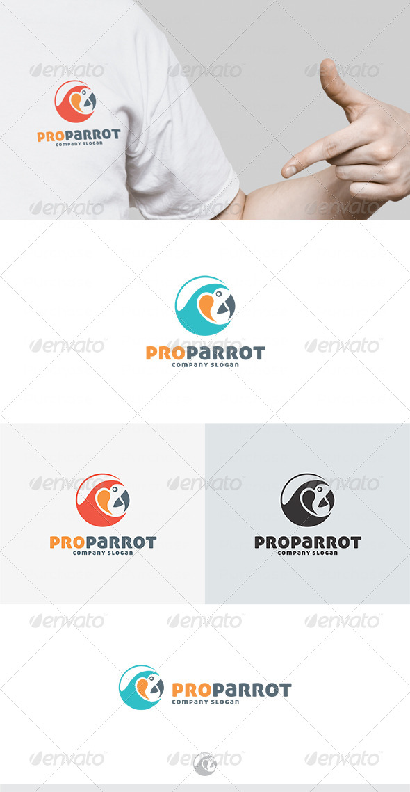 Pro Parrot Logo - Animals Logo Templates