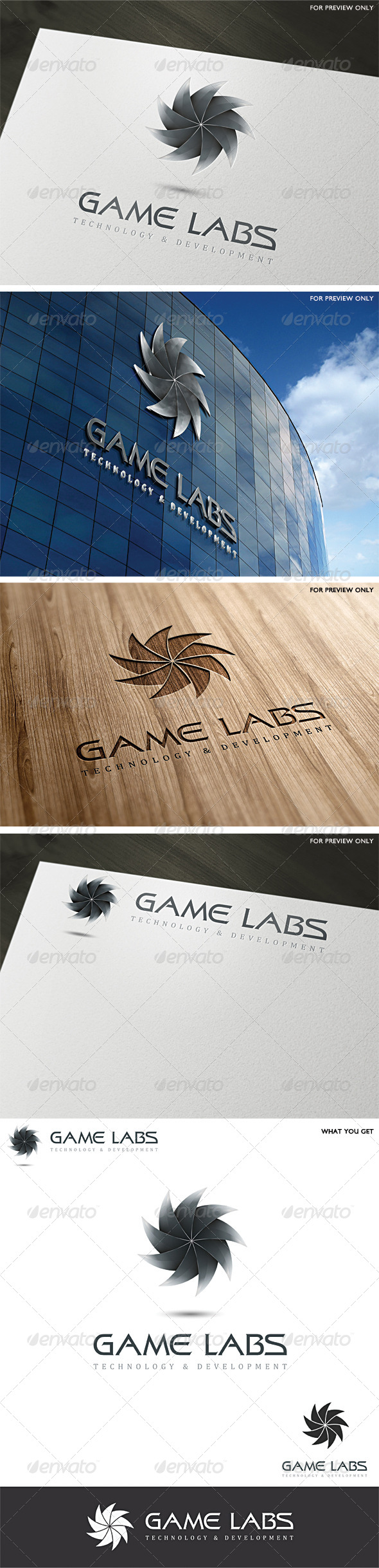 3D Game Labs Logo Template v3 - 3d Abstract