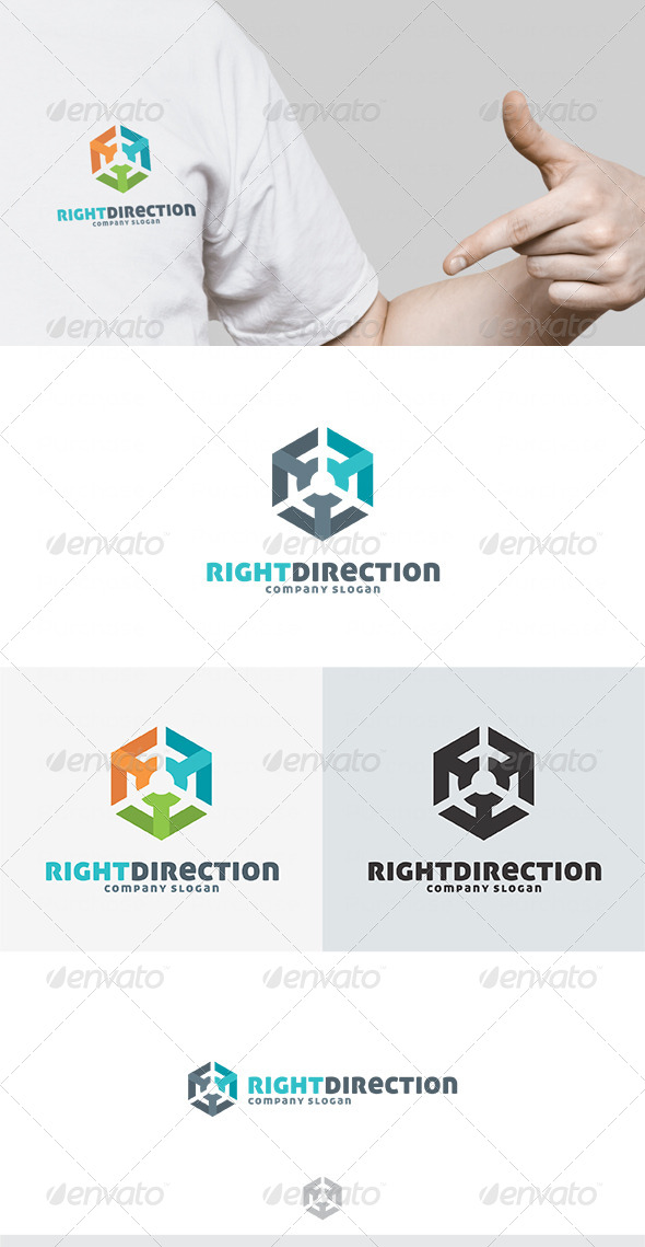 Right Direction Logo - Vector Abstract