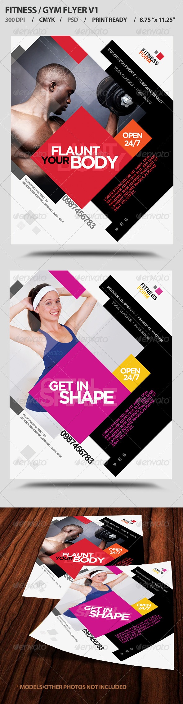 Fitness/Gym Business Promotion Flyer V1 - Commerce Flyers