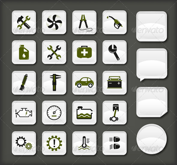 Car Service Icons - Industries Business