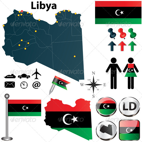 Map of Libya - Travel Conceptual