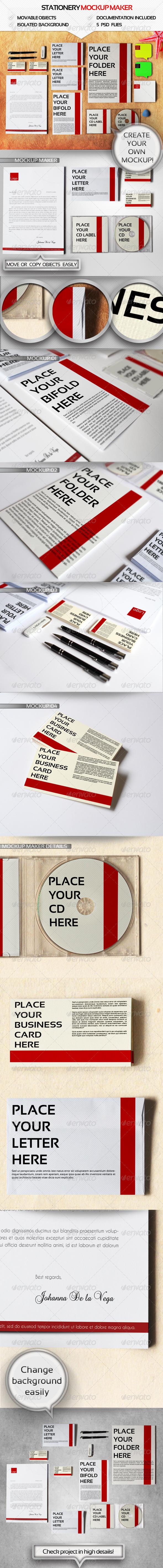 Branding Mockup Maker - Stationery Print