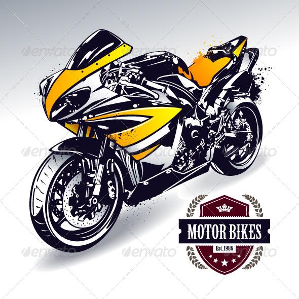 Sport Motorbike - Vectors