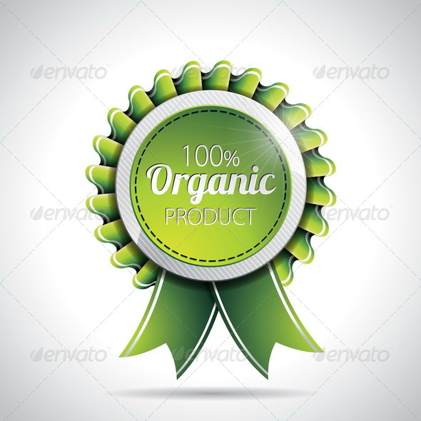 Organic Product Labels Illustration - Organic Objects Objects